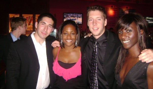 Teddy Daiell with friends