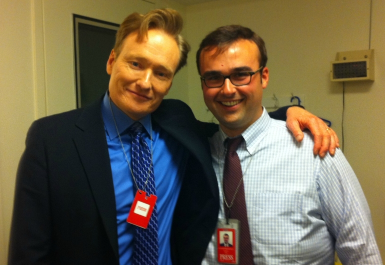 Adam and Conan OBrien White House Correspondents Dinner