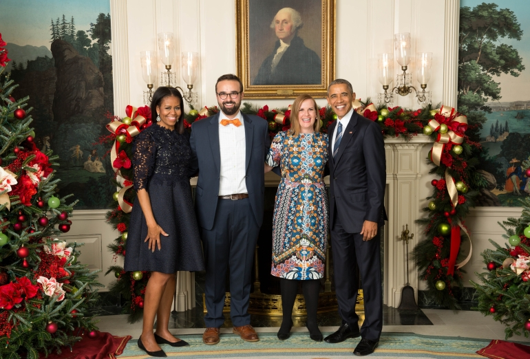 Adam and Susan at White House Christmas Party 2016