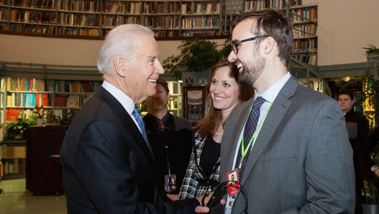 Adam with Vice President Joe Biden