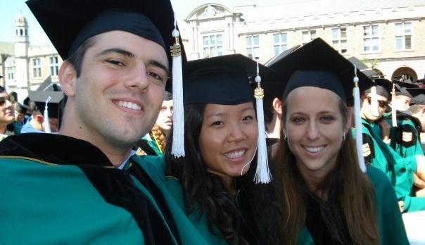 Tingting Turski at WashU Graduation Ceremony